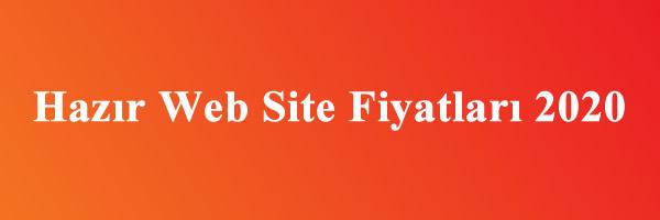 hazır web site fiyatları 2020