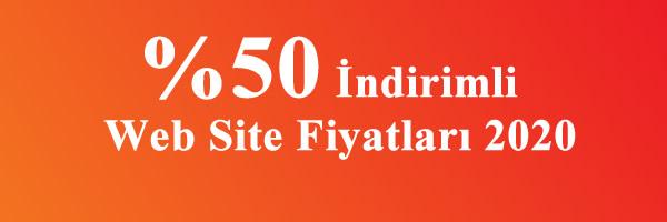 %50 indirimli web site fiyatları 2020